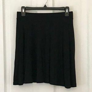 Black skater skirt with zipper